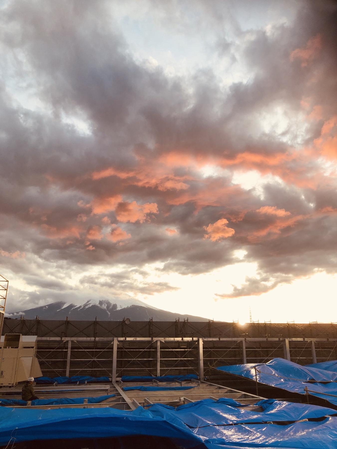 Sun set Fuji